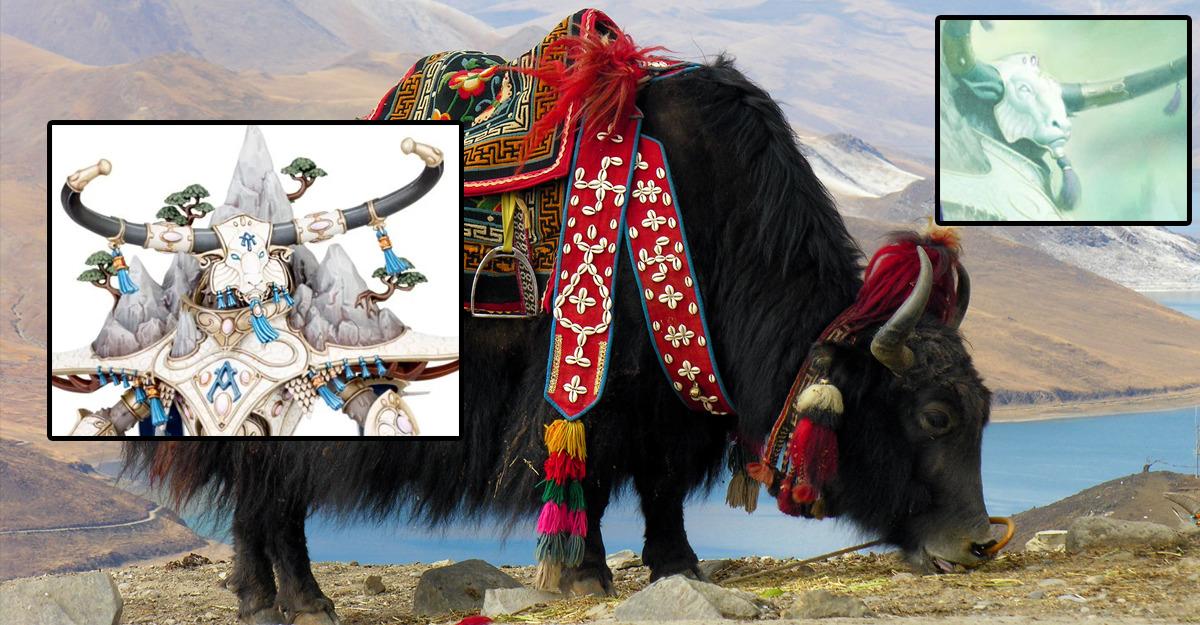 Decorazioni dei Lumineth che richiamano gli Yak domestici