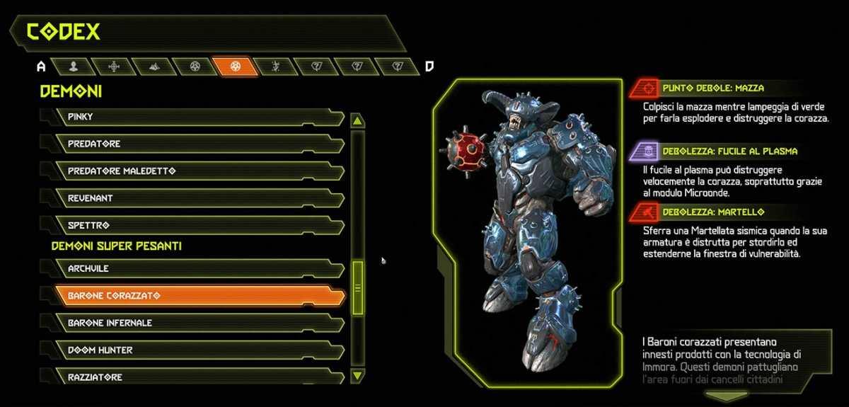 Doom Eternal Demone Barone corazzato