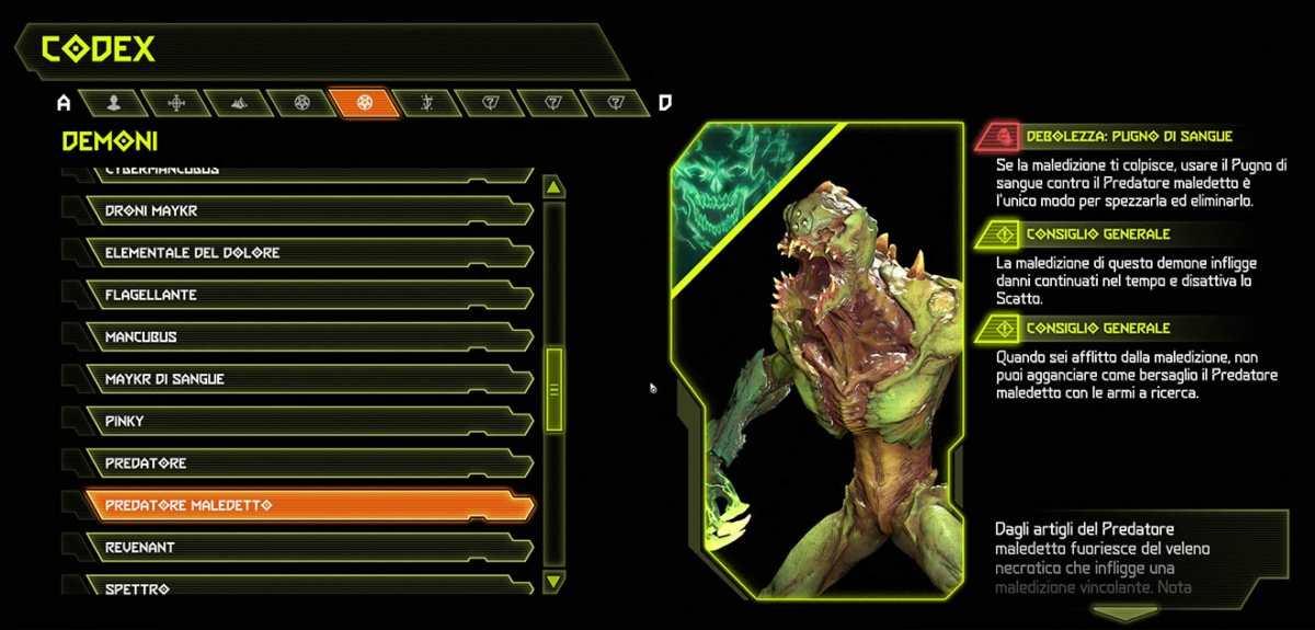 Doom Eternal - Demone Predatore Maledetto