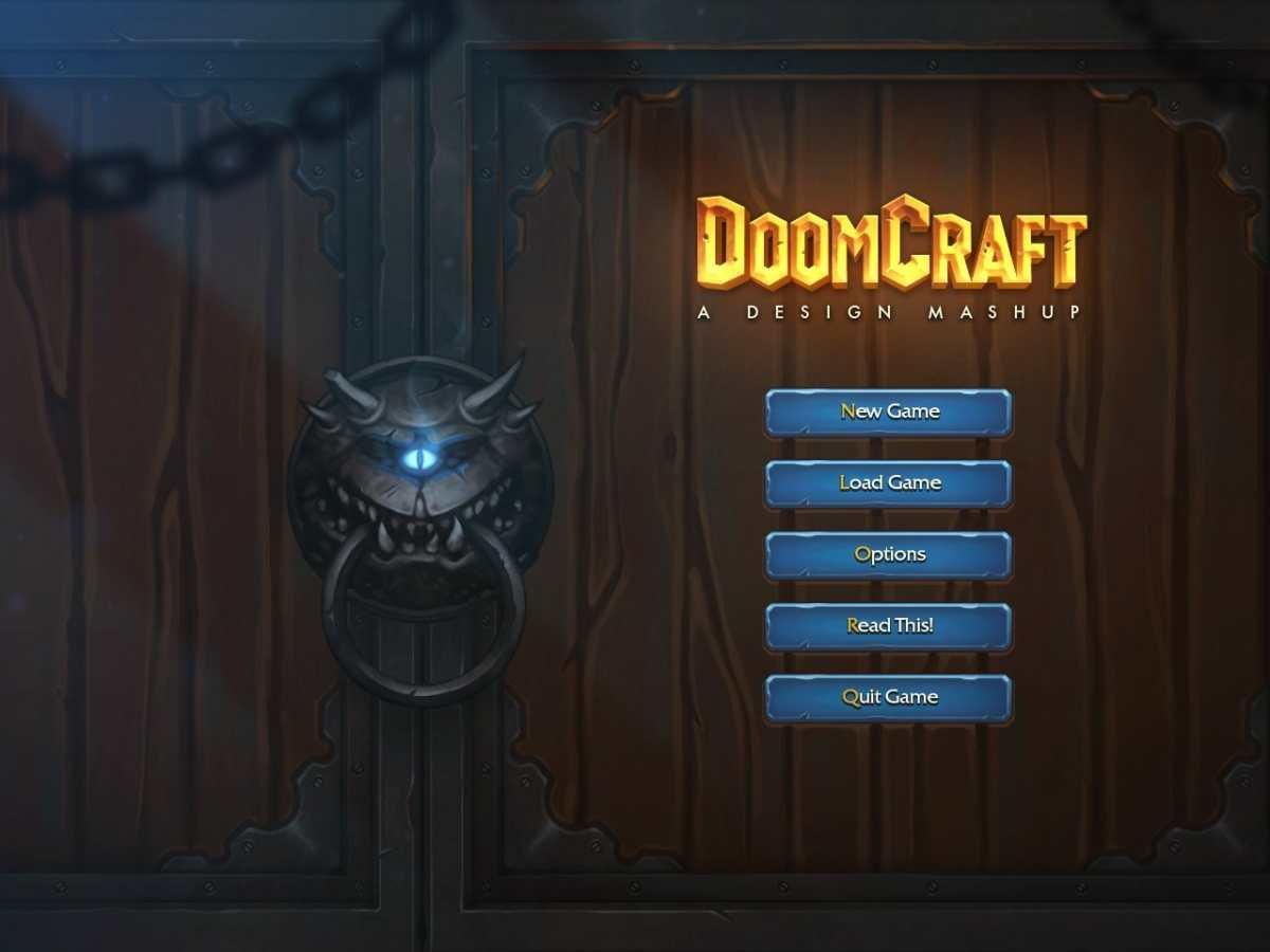 Doomcraft menu