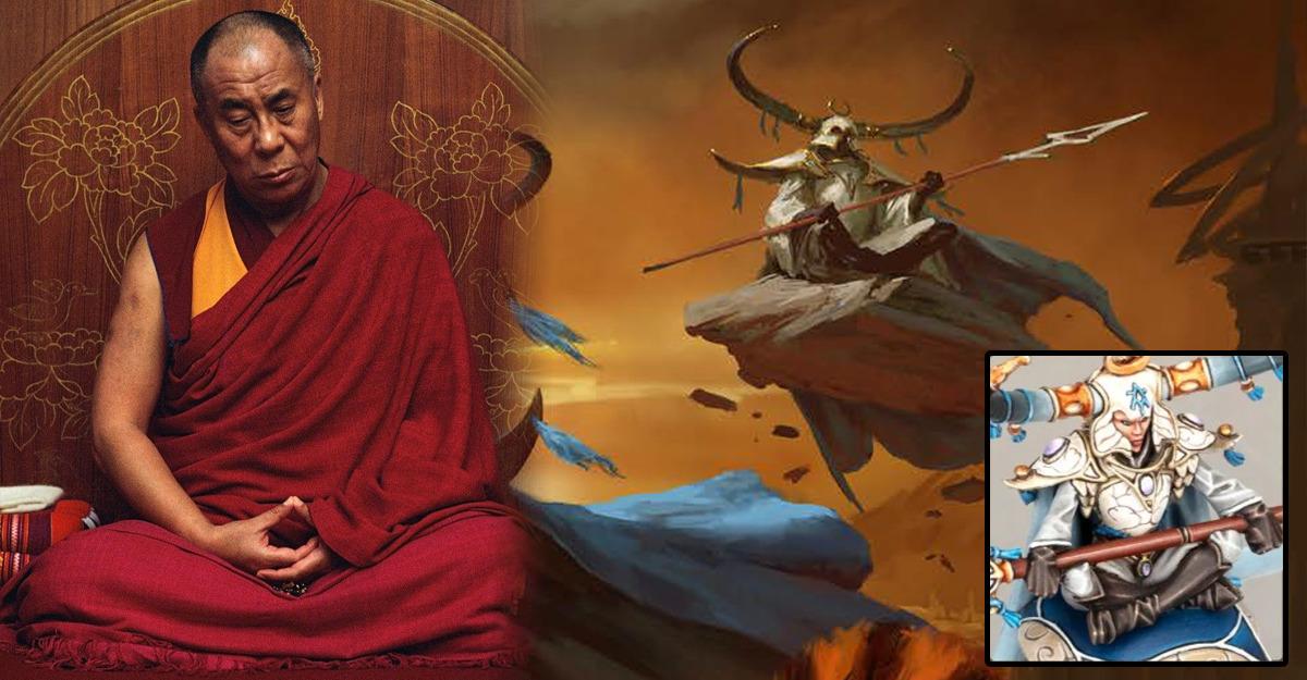 Maghi della Pietra Lumineth e monaci tibetanti buddhisti