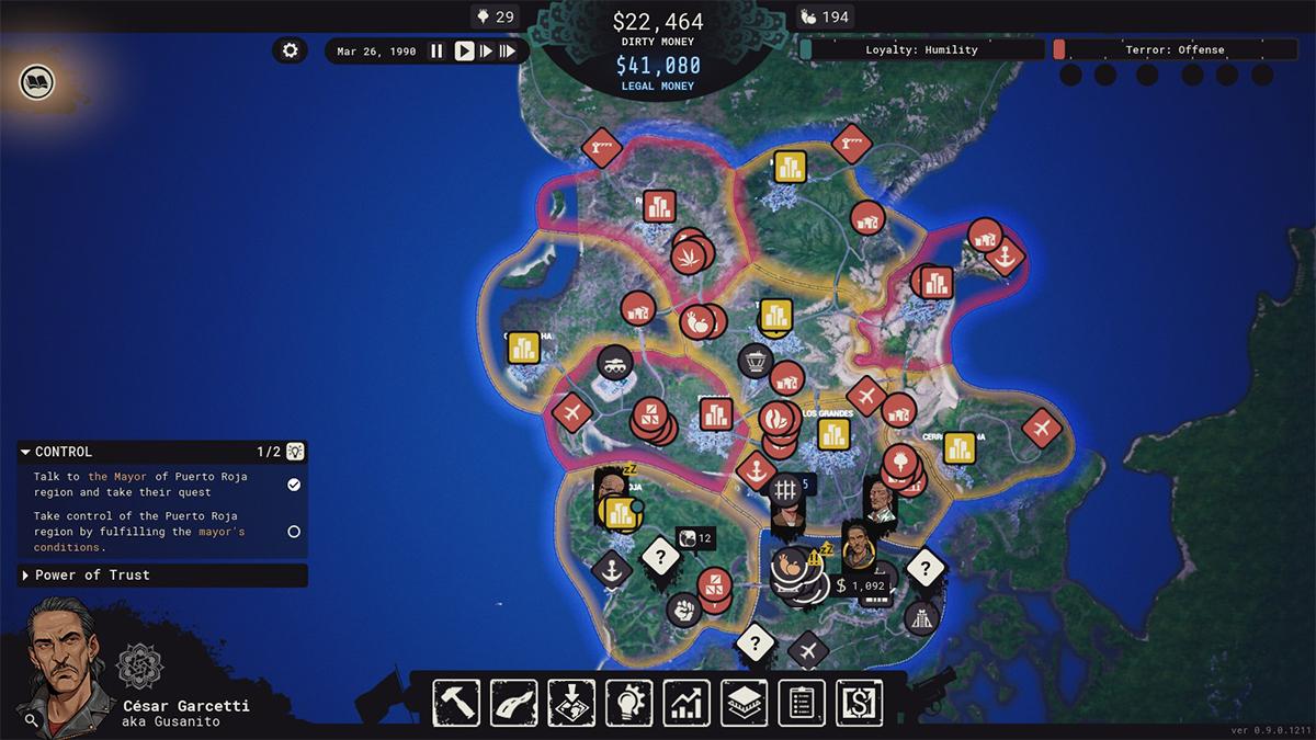 Mappa di Cartel Tycoon