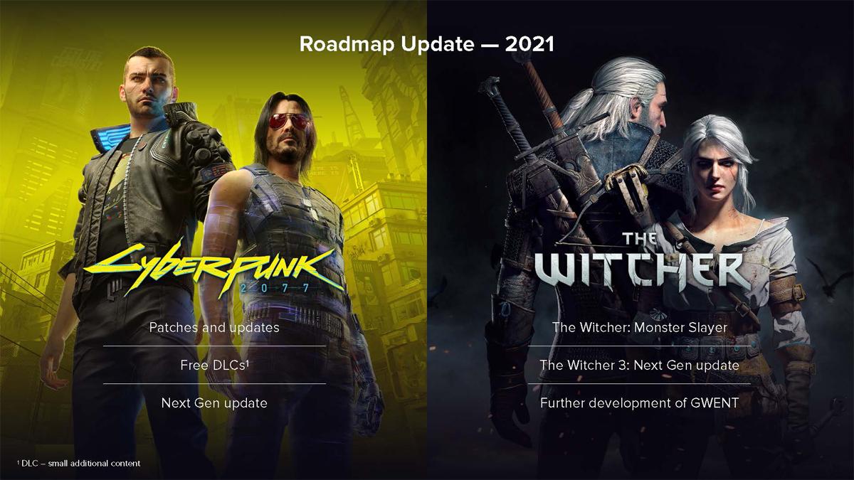 Roadmap di Cyberpunk 2077 e The Witcher 3