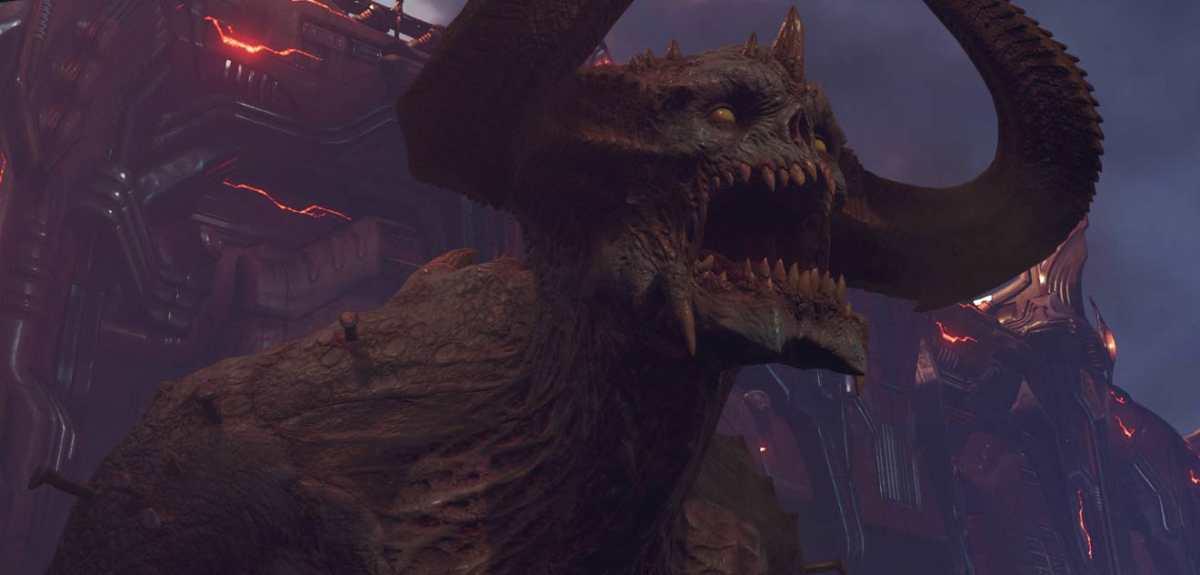 doom eternal demone gigante