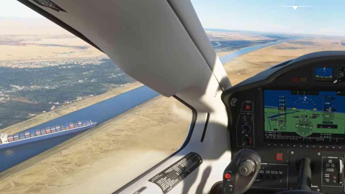 Microsoft Flight Simulator, Microsoft Flight Simulator Suez crisi, Microsoft Flight Simulator nave Suez, Microsoft Flight Simulator nave bloccata a Suez, Microsoft Flight Simulator mod nave bloccata canale Suez