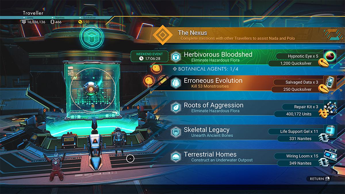 Sistema di missioni nell'Anomalia Spaziale di No Man's Sky