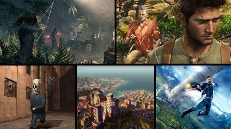 videogiochi ambientati sudamerica, uncharted, shadow of the tomb raider, grim fandango remastered, just cause 4, tropico 6