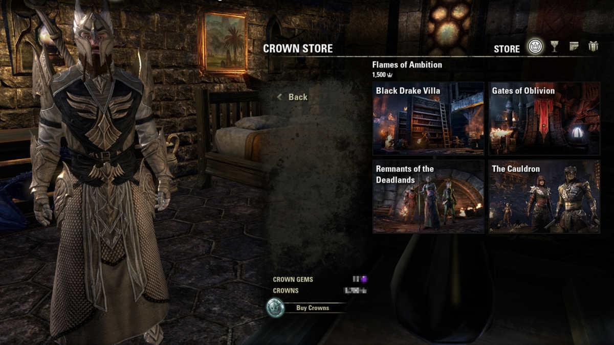 L'edizione base del DLC ESO: Flames of Ambition