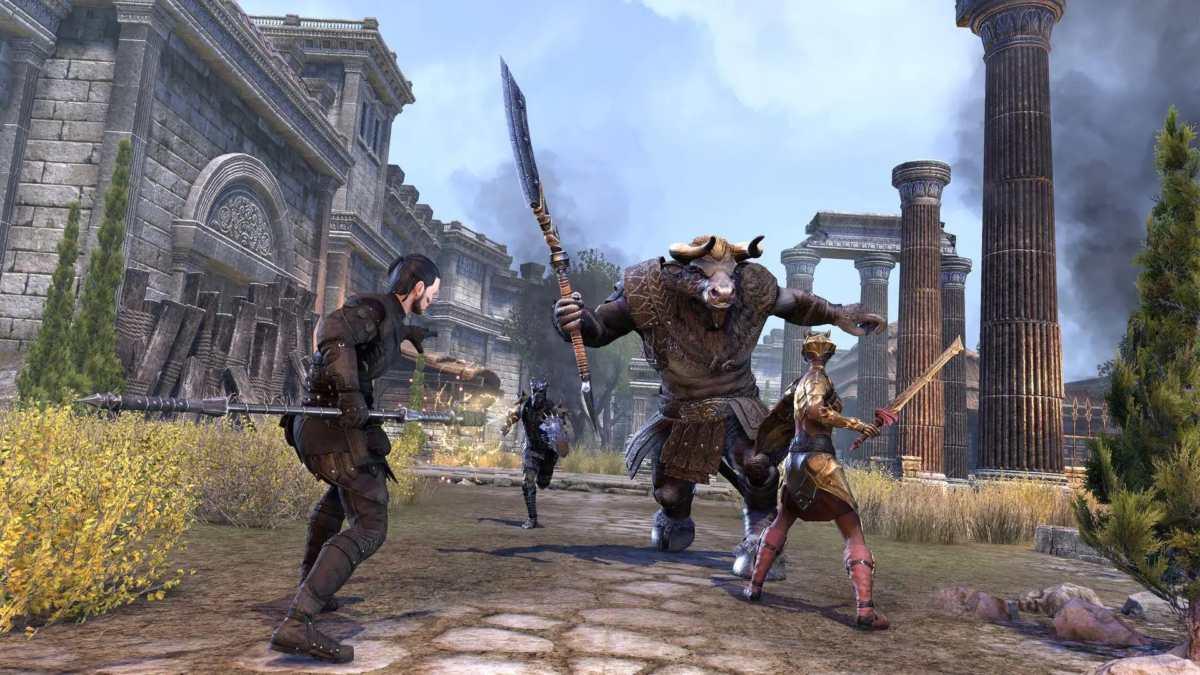 Un minotauro del Clan Ironeye in The Elder Scrolls Online