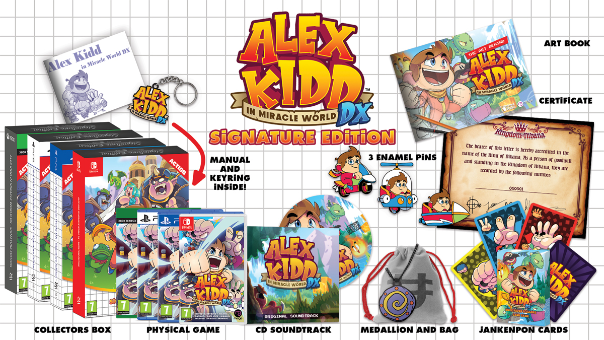 Alex Kidd in Miracle World DX Signature Edition