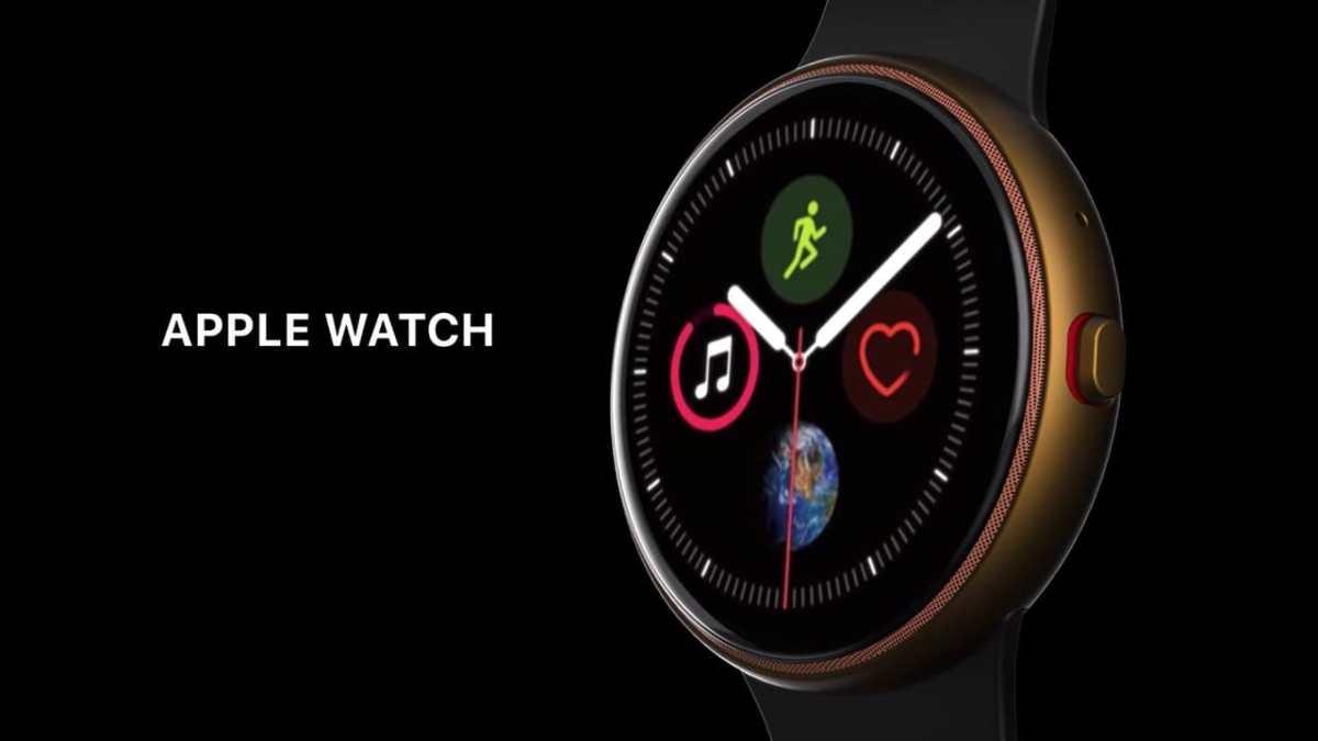 Apple Watch forma rotonda rendering