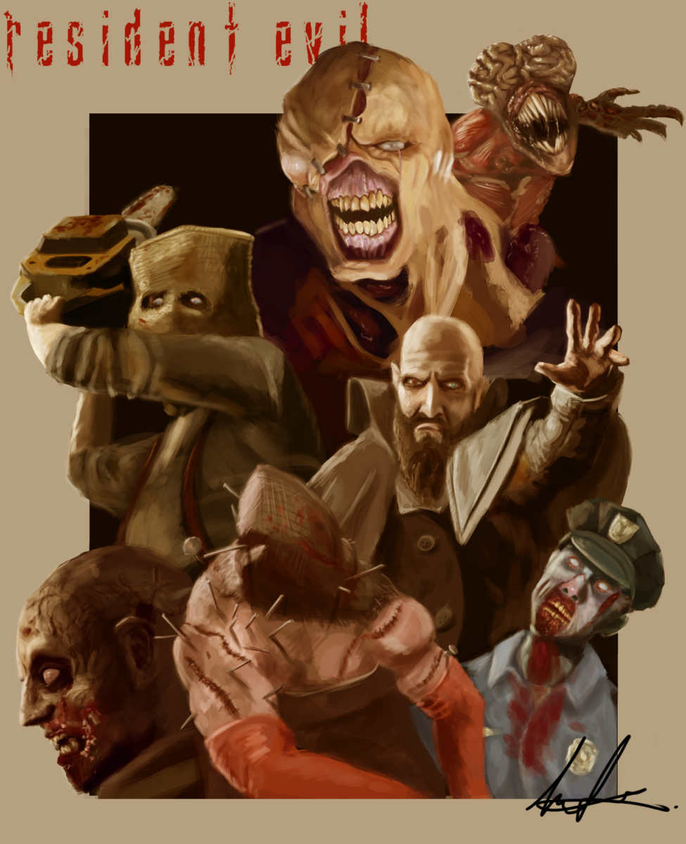 resident evil monsters fan art, fan art di resident evil, resident evil mostri, artwork mostri resident evil