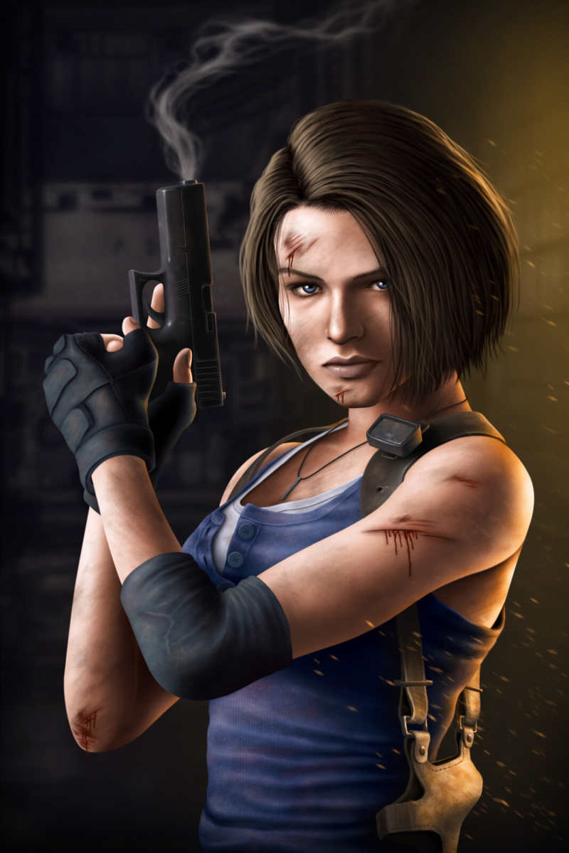 resident evil 3 remake, resident evil 3 fan-art, resident evil 3 remake fan-art, resident evil fan-art, Jill Valentine fan-art, Jill Valentine Resident Evil 3