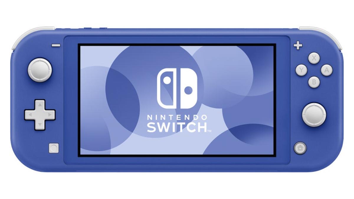Nintendo Switch Lite di colore blu