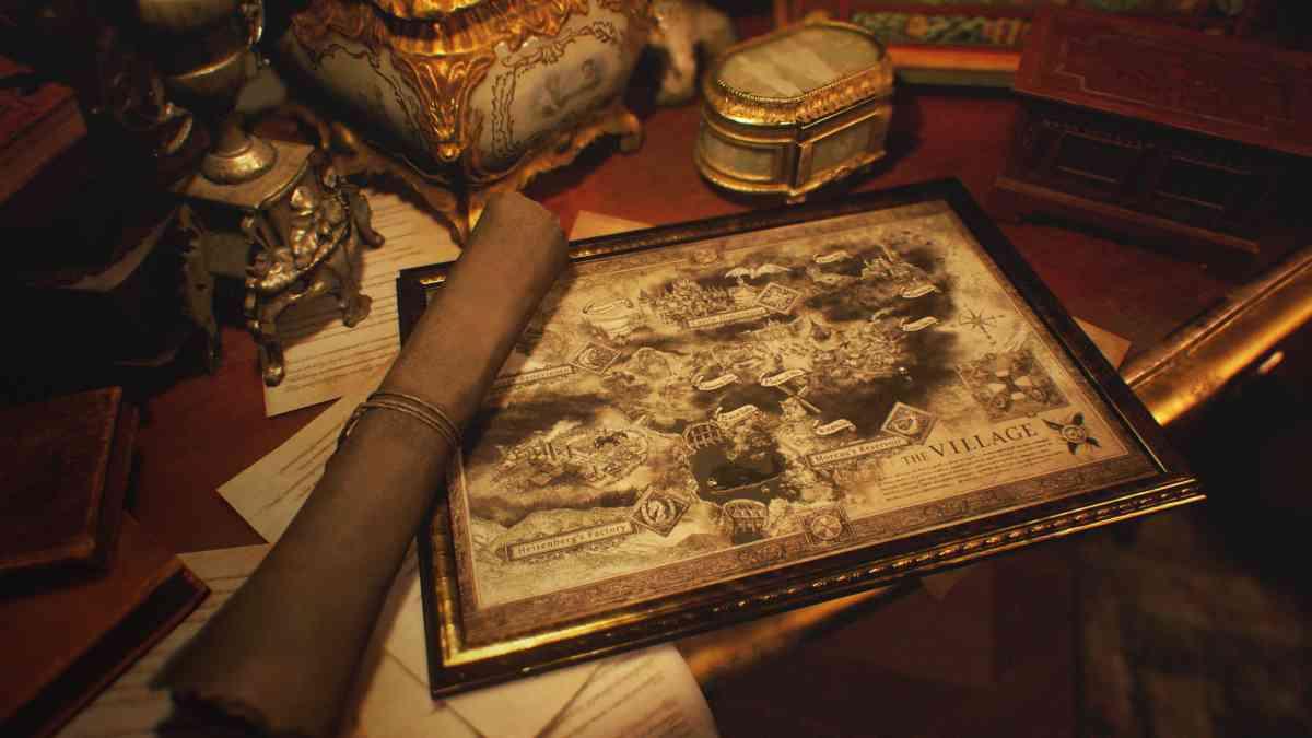 Resident Evil Village mappa del gioco, Resident Evil Village mappa