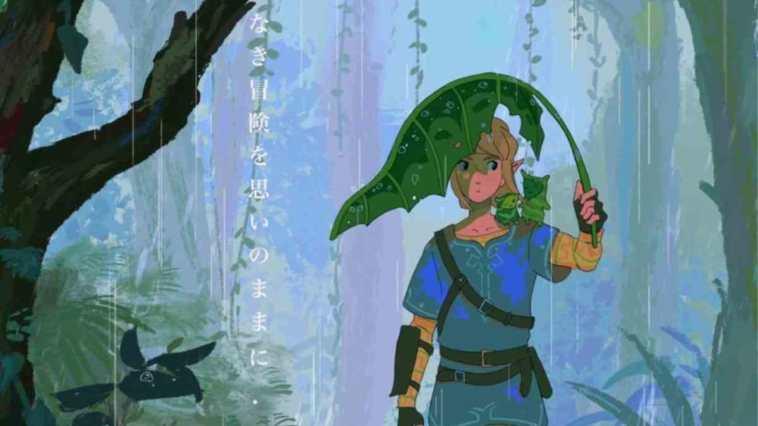 Zelda, The Legend of Zelda: Breath of the Wild, The Legend of Zelda: Breath of the Wild studio Ghibli, The Legend of Zelda: Breath of the Wild Ghibli omaggio