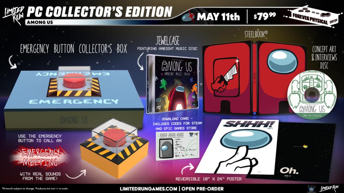 Tutti i gadget della Collector's Edition per PC di Among Us