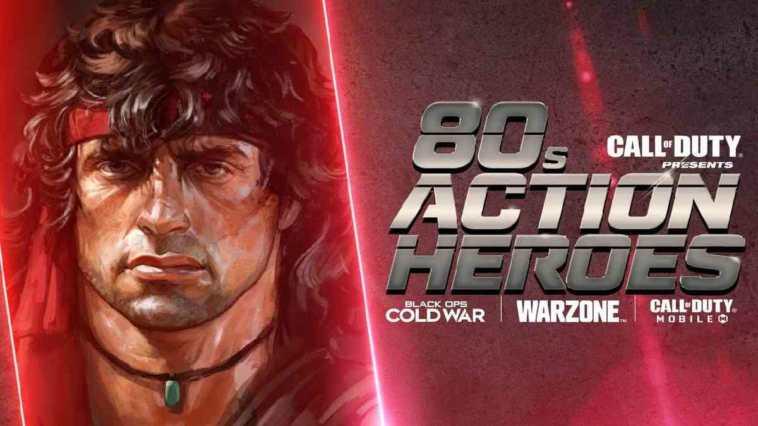 call of duty, call of duty: warzone, call of duty: cold war, call of duty aggiornamento Stagione 3 reloaded, Call of Duty Eroi del cinema d'azione anni '80