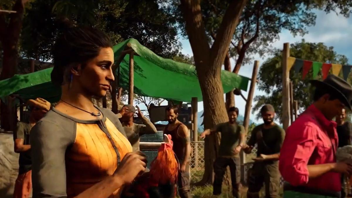 Dani Rojas in un accampamento di Libertad in Far Cry 6