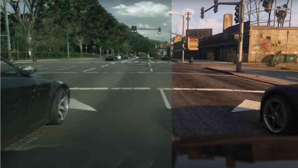 GTA V, GTA V machine learning, GTA V grafica potenziata con AI, AI potenzia GTA V, GTA V fotorealisco, GTA V fotorealismo