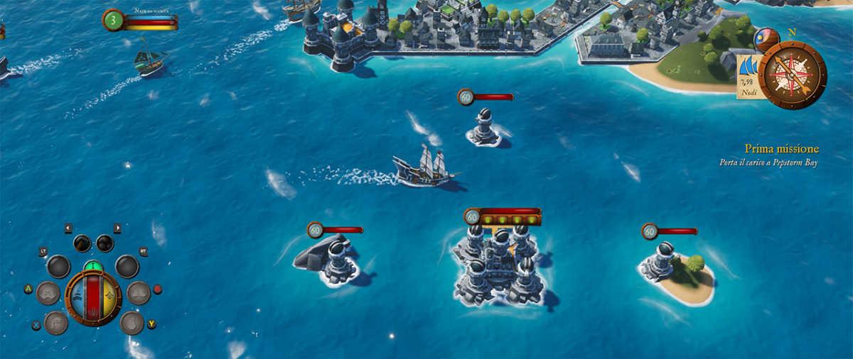 Navigazione in King of Seas