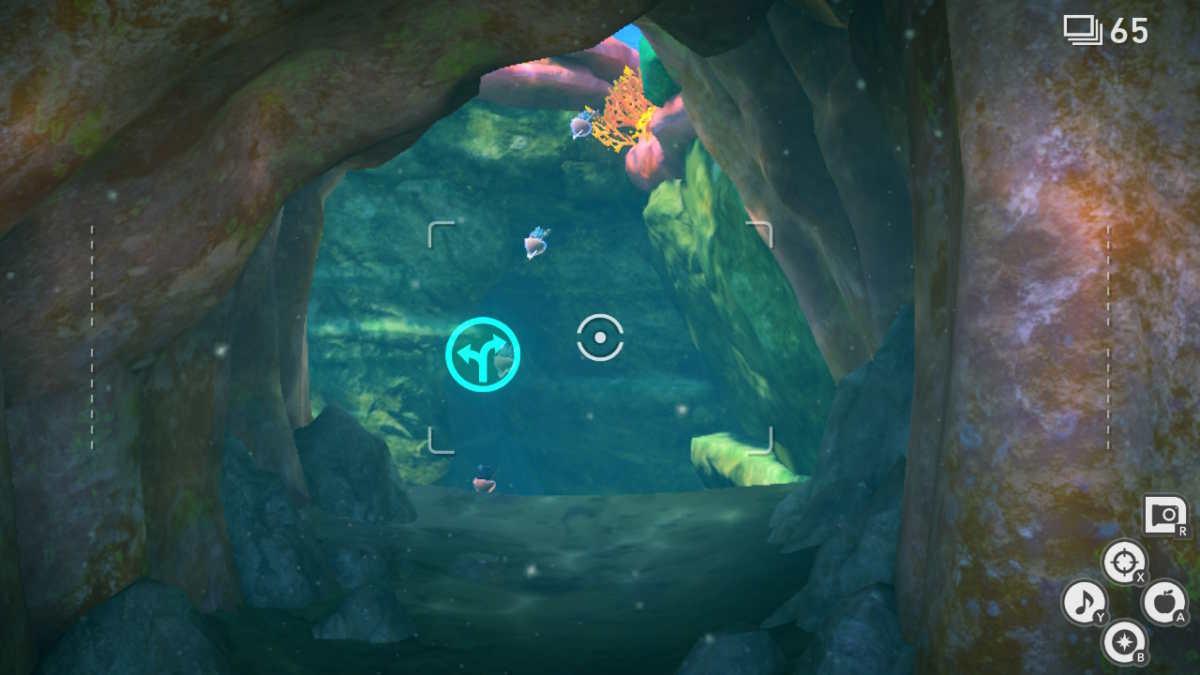 Percorso alternativo nei fondali marini di Lentil in New Pokémon Snap