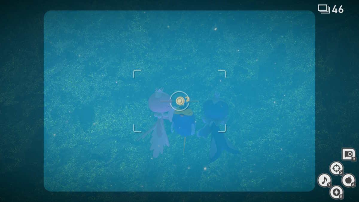 Lanturn catturato da due Frillish in New Pokémon Snap