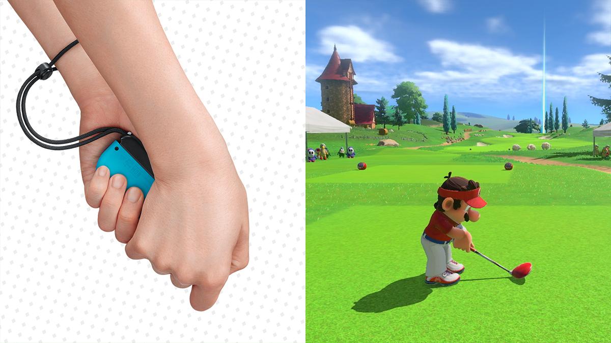 Utilizzo del Joy-Con col motion control in Mario Golf Super Rush