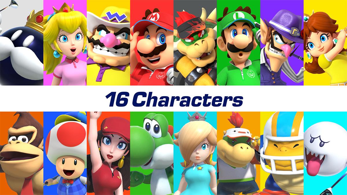 I personaggi selezionabili di Mario Golf Super Rush