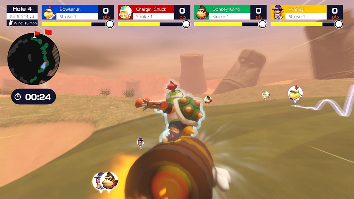 Una delle modalità di gioco di Mario Golf Super Rush