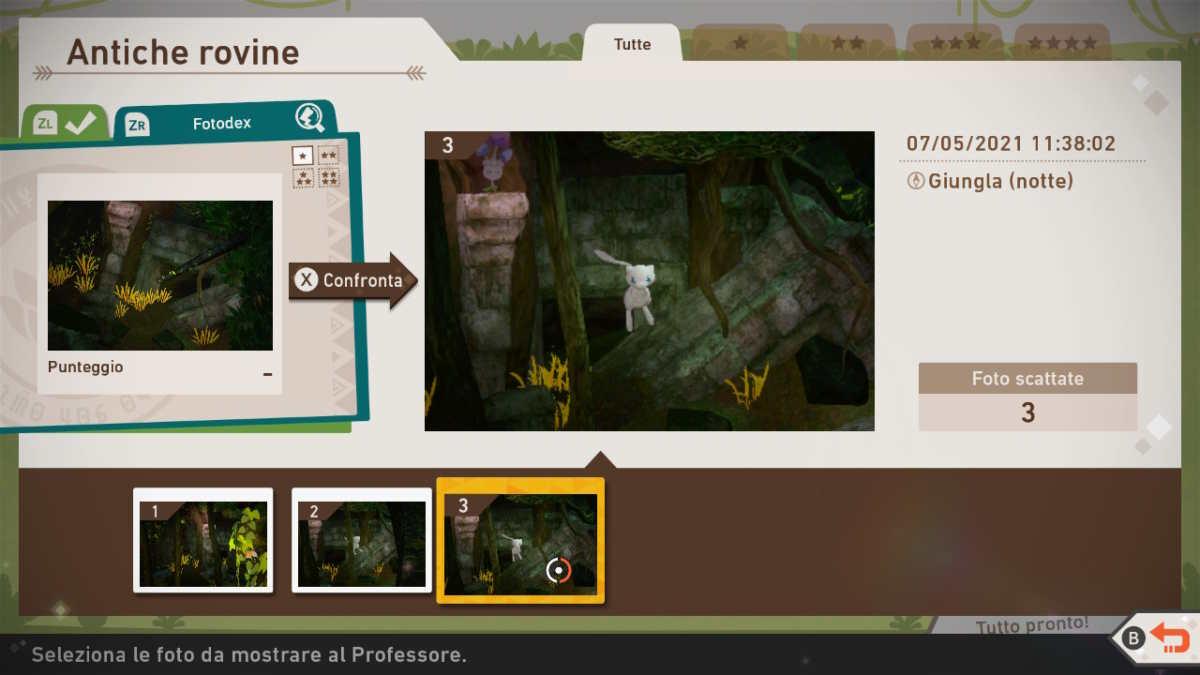 Mew vicino le rovine della giungla di New Pokémon Snap