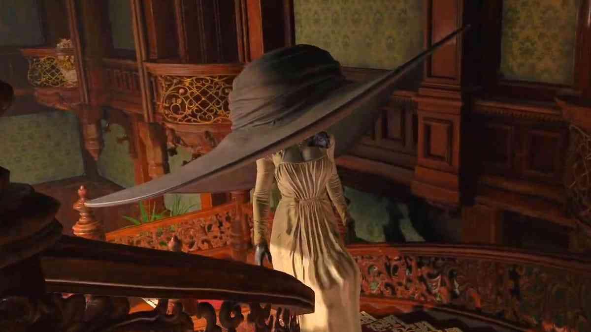 Lady Dimitrescu mod cappello gigante, resident evil village Lady Dimitrescu mod cappello gigante, resident evil village mod