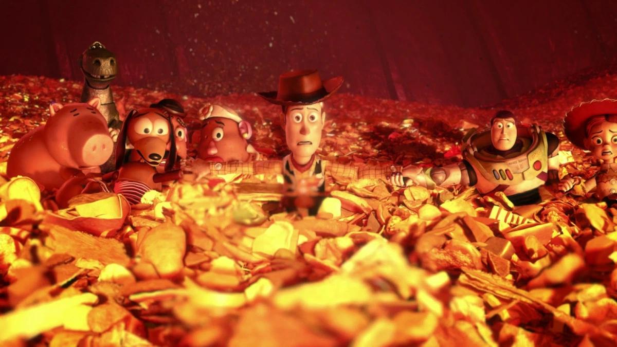 Una scena finale di Toy Story 3
