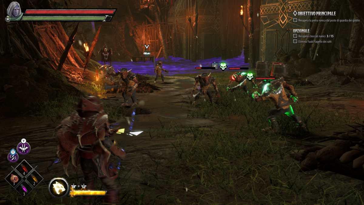 Combattimento contro i goblin in Dark Alliance