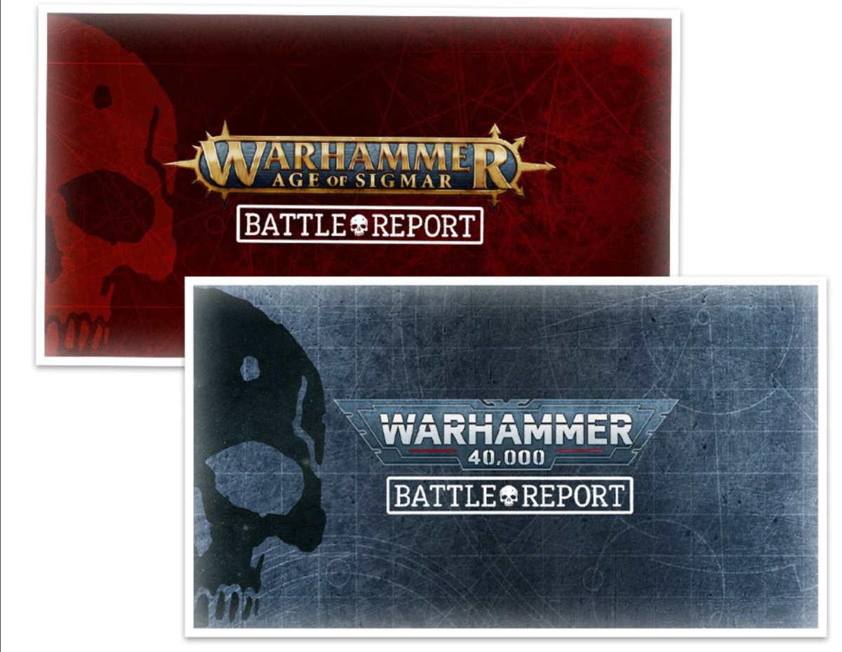 Copertina della serie Battle Report su Warhammer+