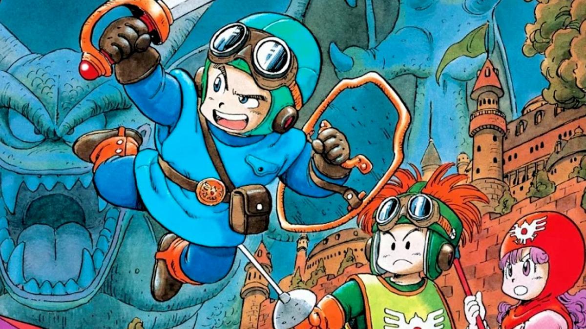 Artwork di copertina di Dragon Quest II