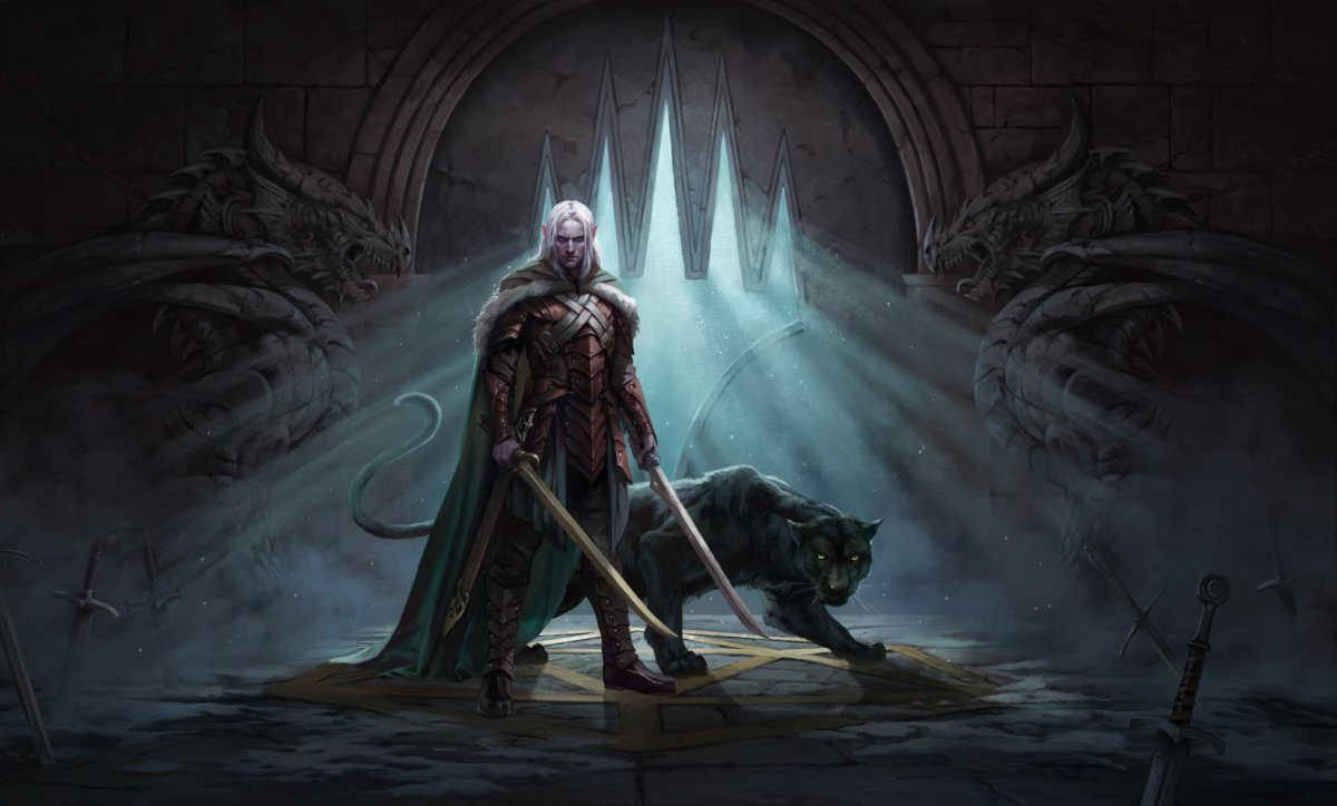 Key art di Drizzt per l'espansione di Magic Adventrues in the Forgotten Realms
