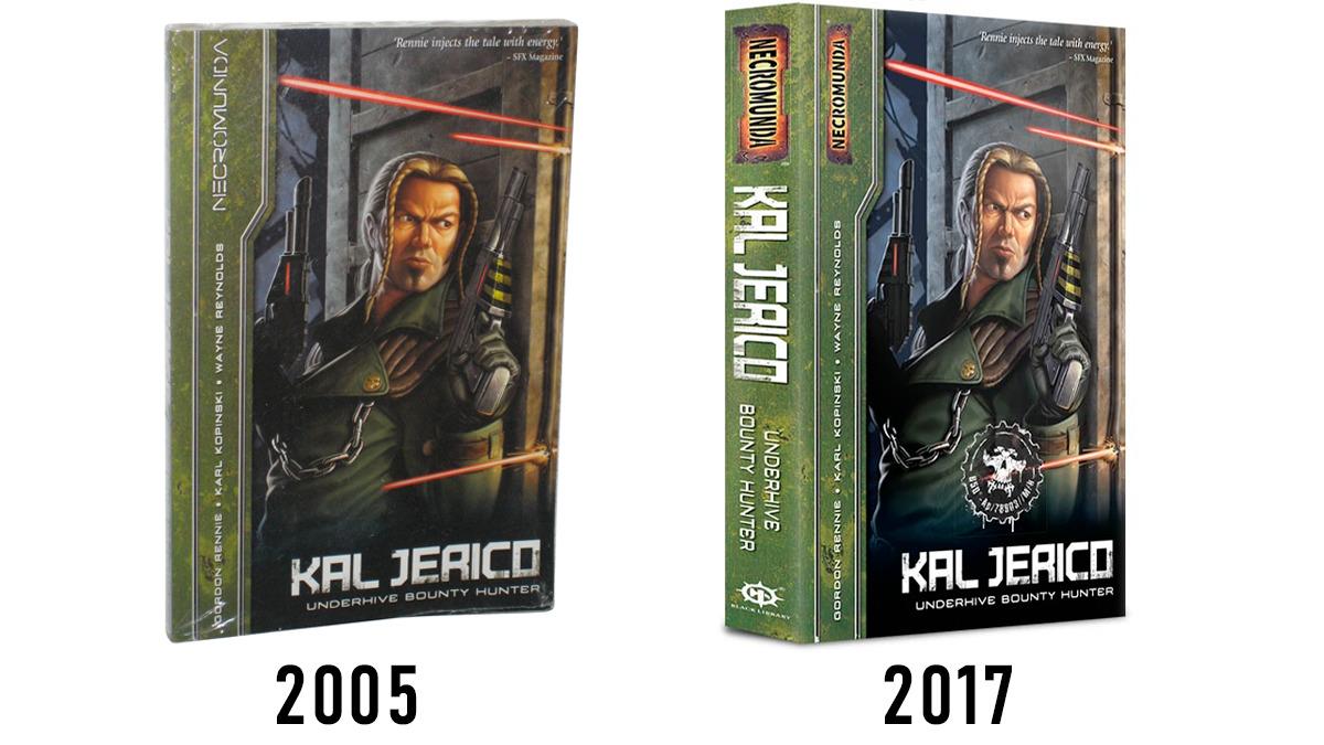 Paragone tra le due edizioni della raccolta Kal Jerico: Underhive Bounty Hunter