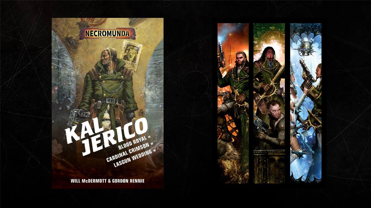Copertine delle raccolte di romanzi su Kal Jerico