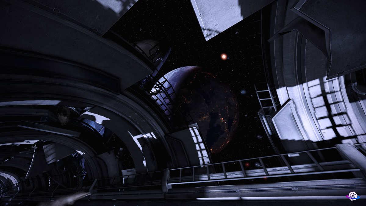 Mass effect 3 legendary edition vista sullo spazio