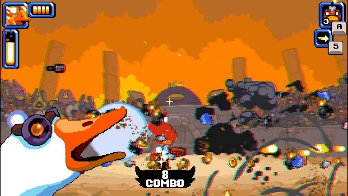 mighty goose esplosioni