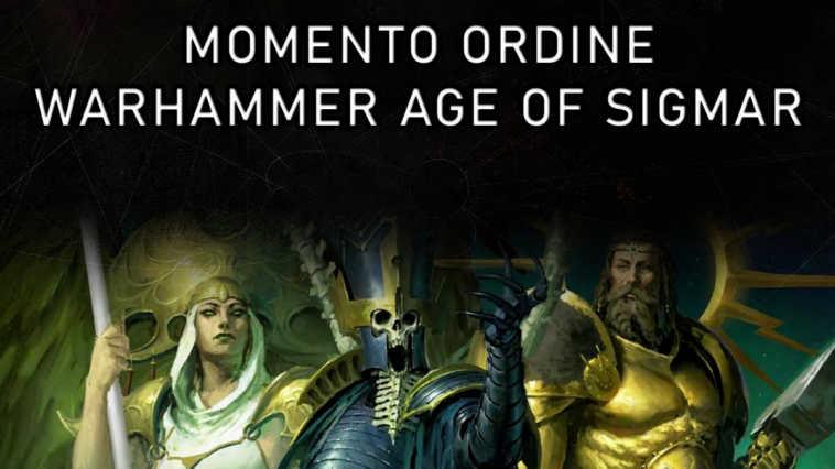 Copertina per il Momento Ordine dedicato a Warhammer Age of Sigmar