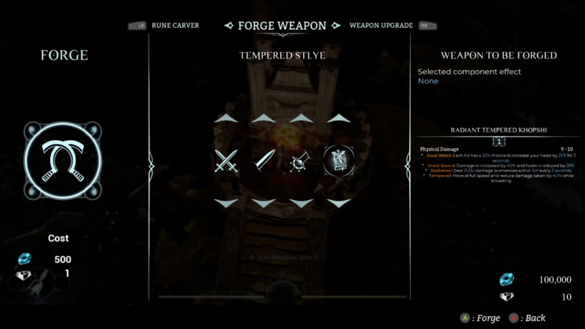 Forgia delle armi in Sands of Aura