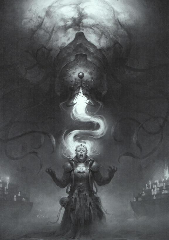 Completa raffigurazione di un Soggiogatore di Warhammer 40.000