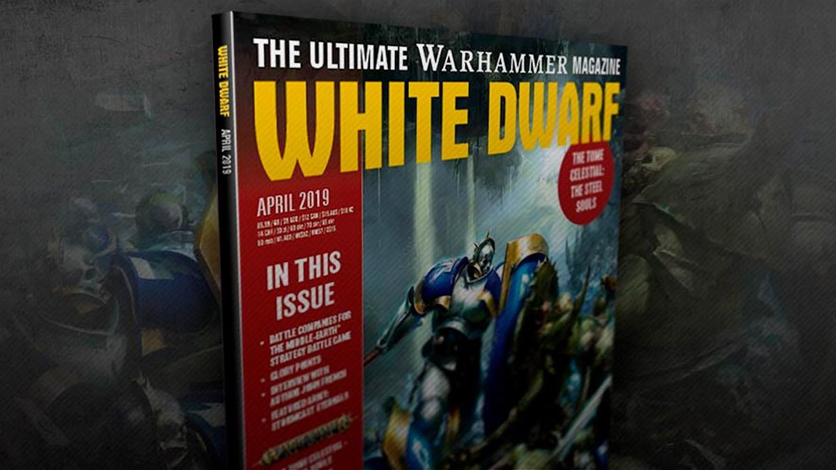 Copertina di White Dwarf Aprile 2019