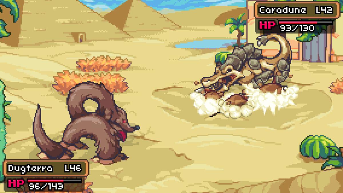 Lotta Coromon nel deserto