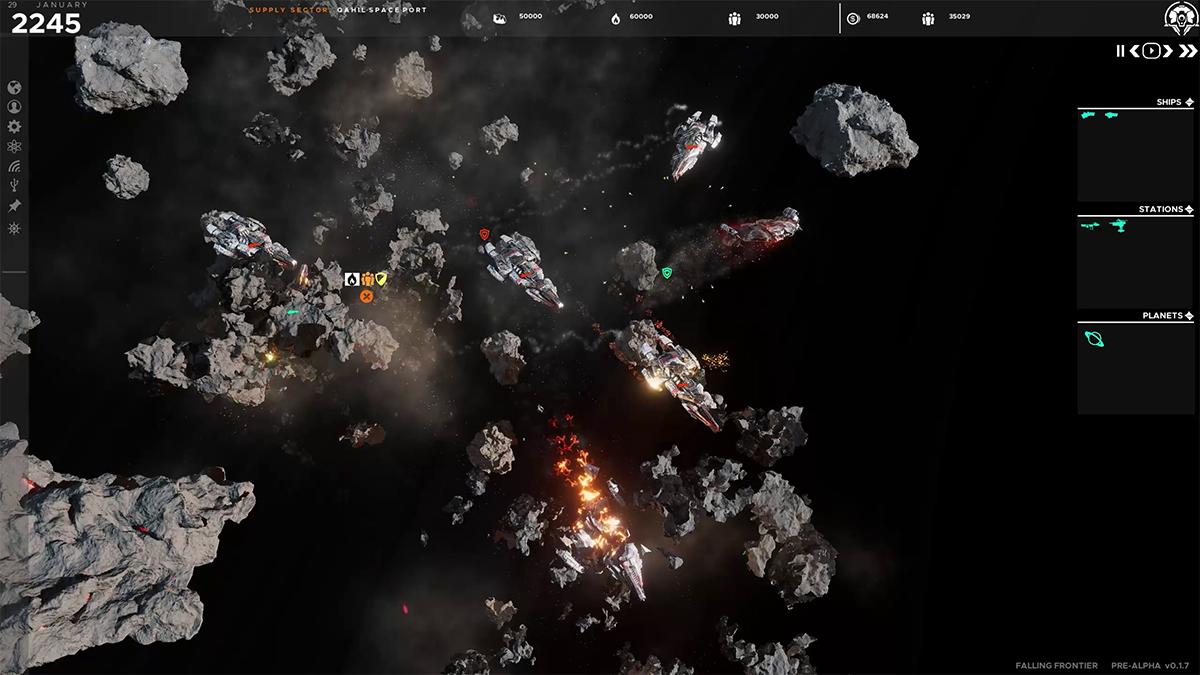 Falling Frontier: battaglia tra gli asteroidi