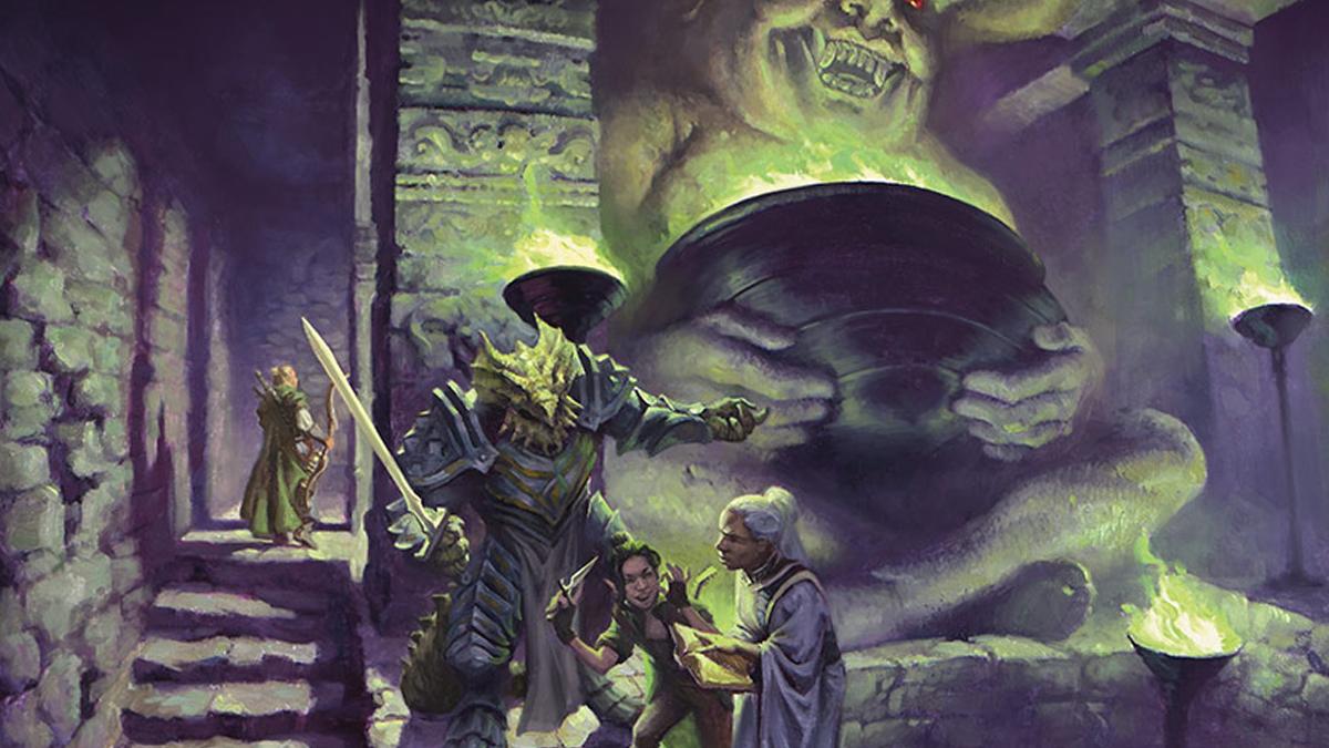 Artwork di un dungeon di D&D nell'espansione di Magic Adventures in the Forgotten Realms