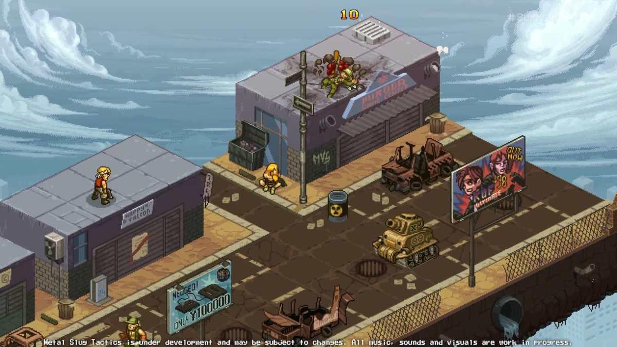 Metal Slug Tactics, mappa di gioco