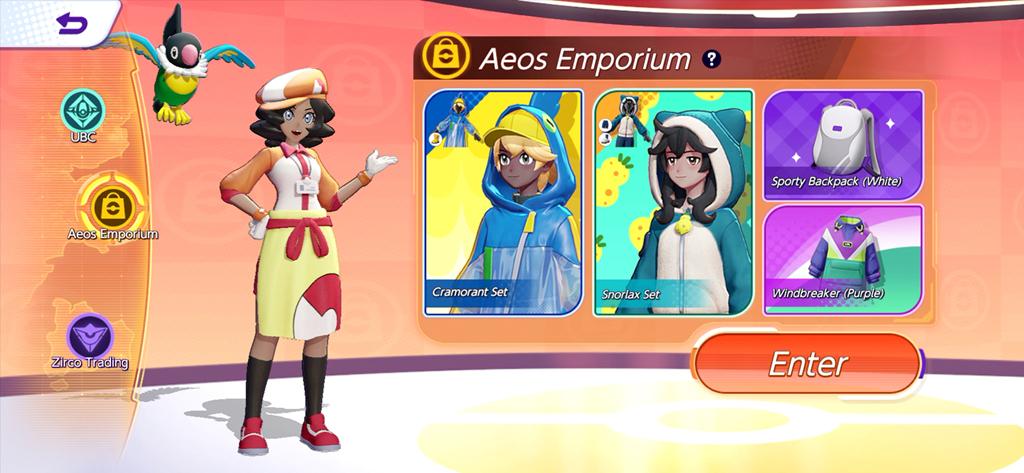 Shop di Pokémon Unite